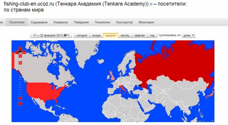 Карта стат. данных от Яндекс