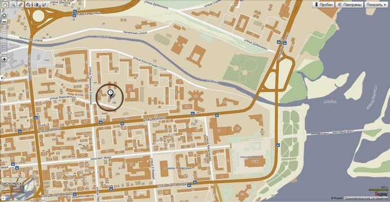 Офис Тенкара Стиль на карте Красноярска