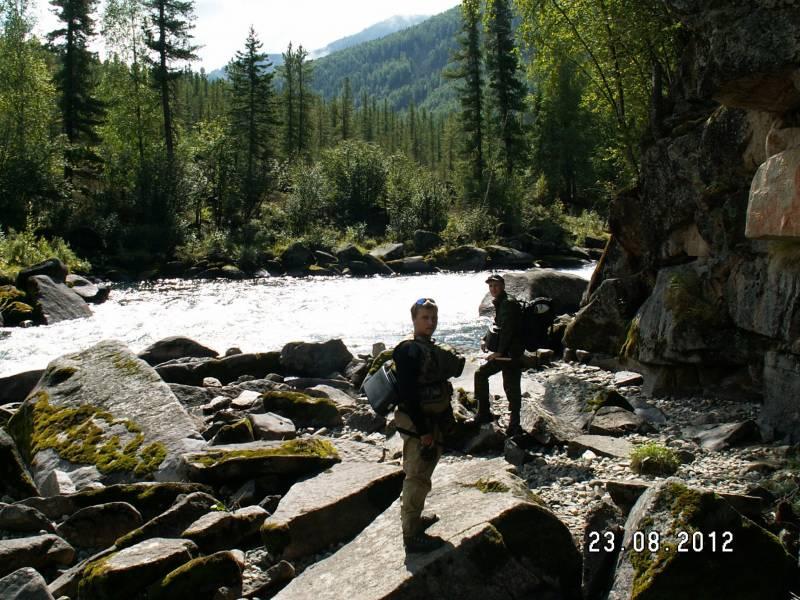 Рыбалка в августе 2012 года в верховьях р. Мана Красноярского края